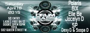 Drum Bass Entertainment April 18 Flyer